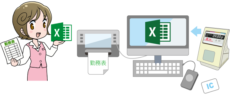 Excelと勤務表